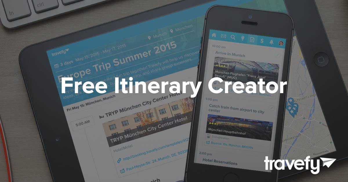 Itinerary Creator Free - Travefy