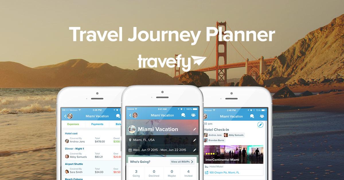 Travel Journey Planner App - Travefy