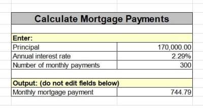 How to Calculate Mortgage Monthly Payment using Excel (with Formula) ? | Technology of Computing