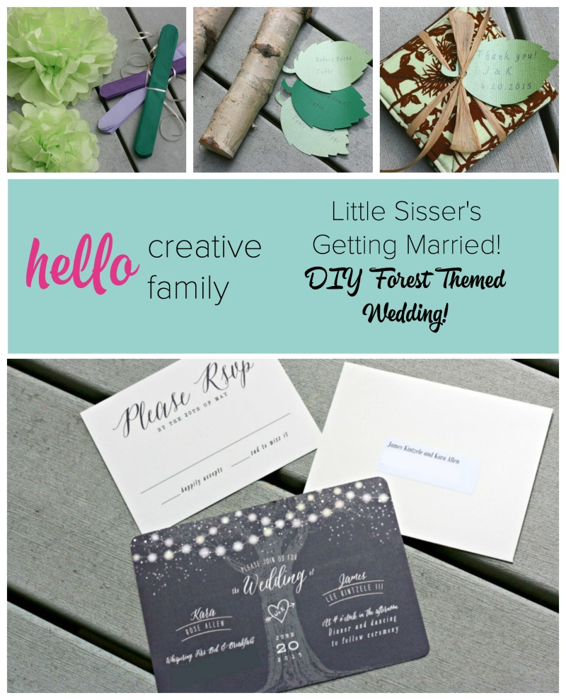 Diy Wedding Invitations With Photo Creating A Diy Forest Themed Wedding For Little Sisser S Special