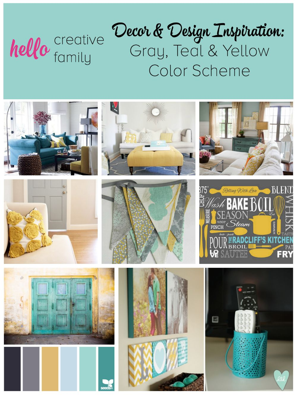 Mustard Color Paint For Kitchen Gray Teal And Yellow Color Scheme Decor Inspiration