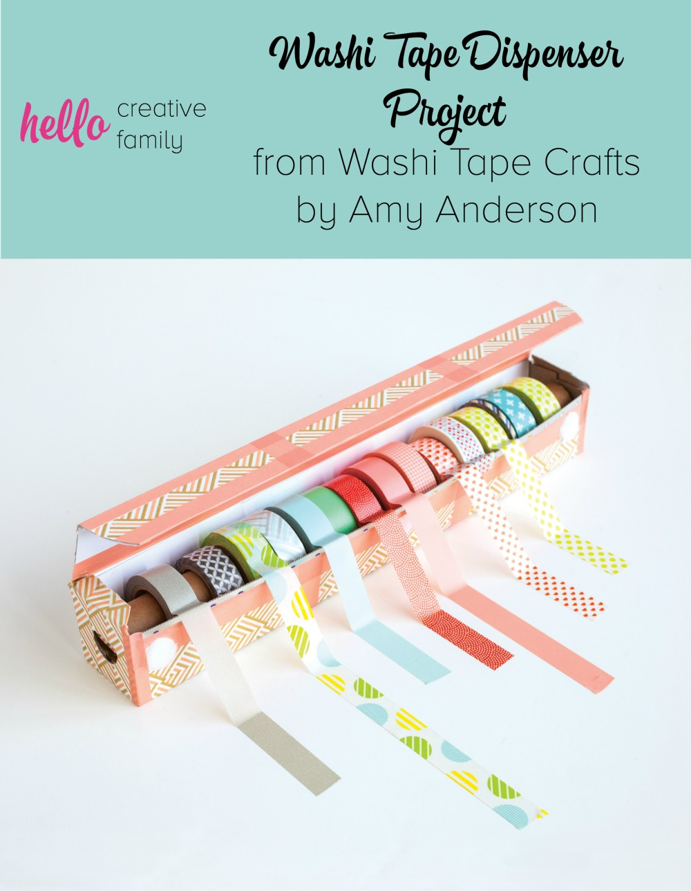 Washi Tape Diy Easy Diy Washi Tape Dispenser Project From Washi Tape ...