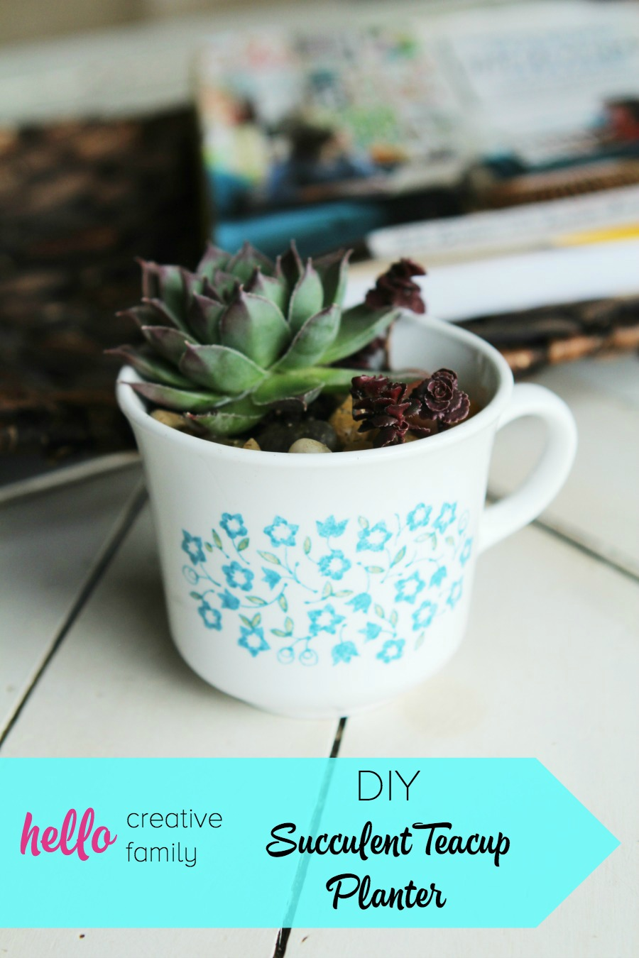 Large Tea Cup Planter Diy Succulent Teacup Planter Hello Creative Family