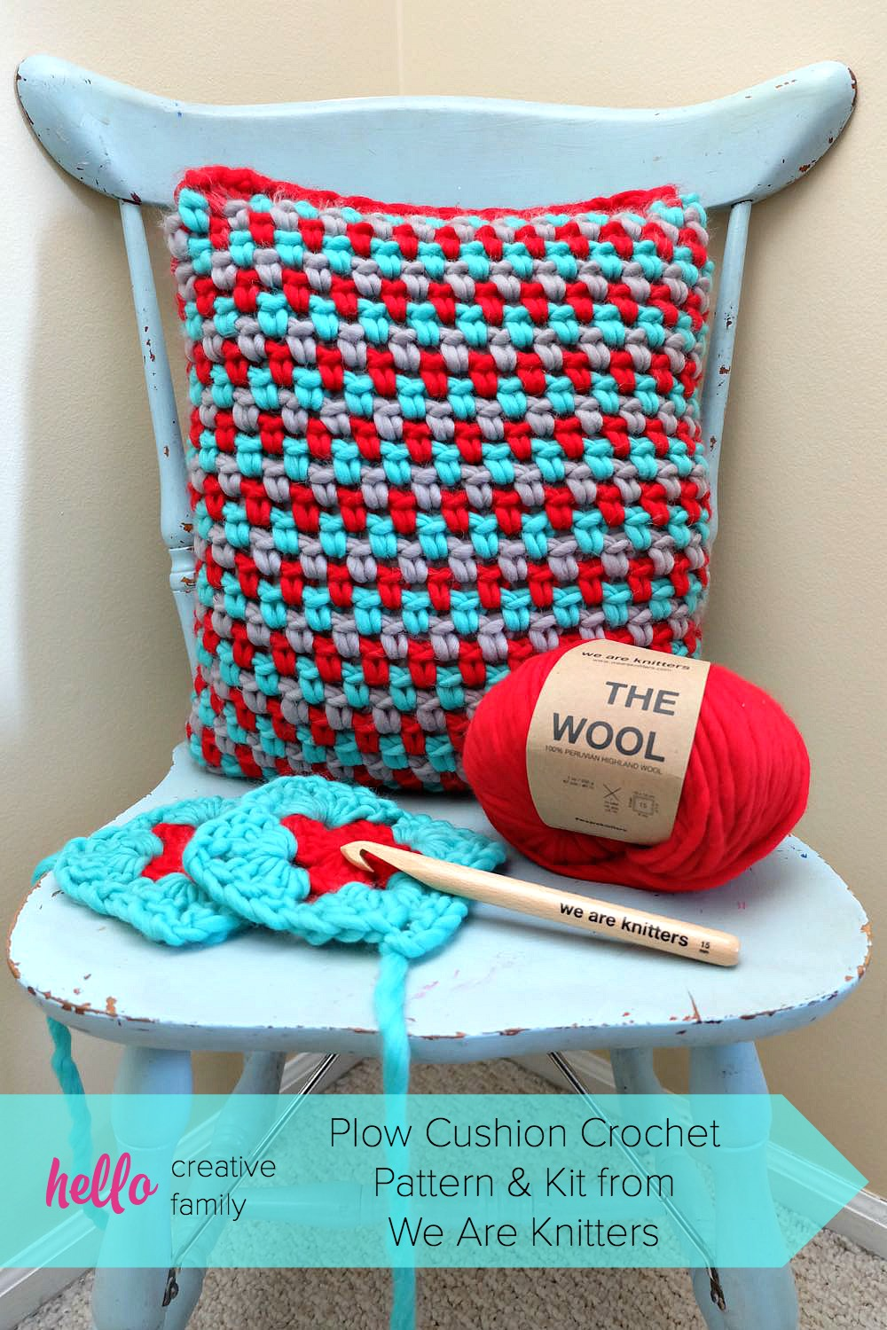 We Are Knitters Plow Cushion Crochet Pattern And Kit From We Are Knitters A