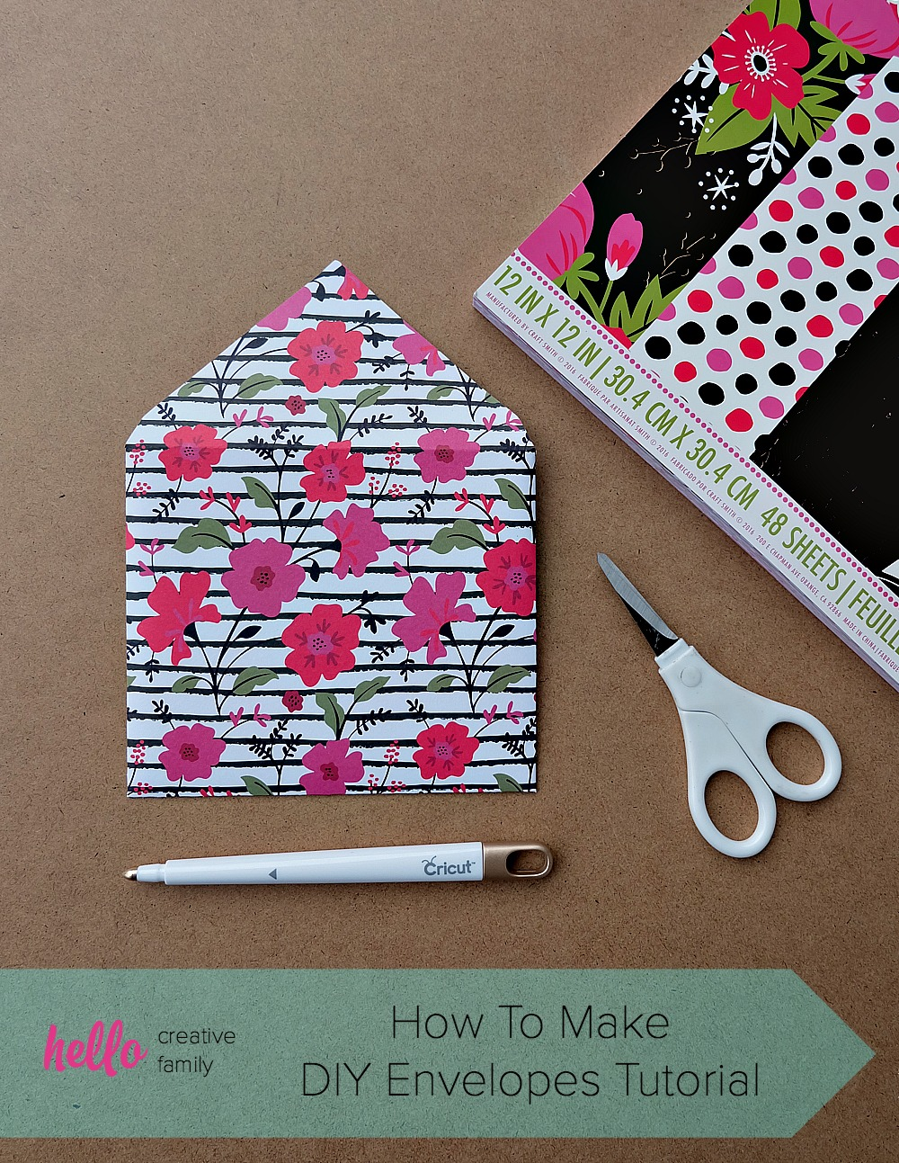 How To Make Diy Envelopes Tutorial Hello Creative Family