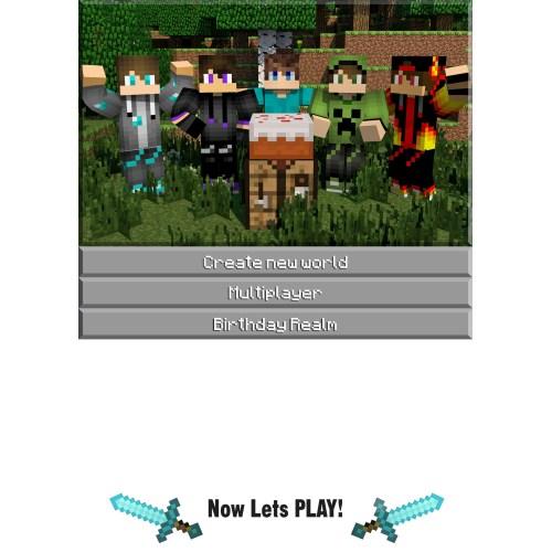 Medium Crop Of Minecraft Birthday Invitations