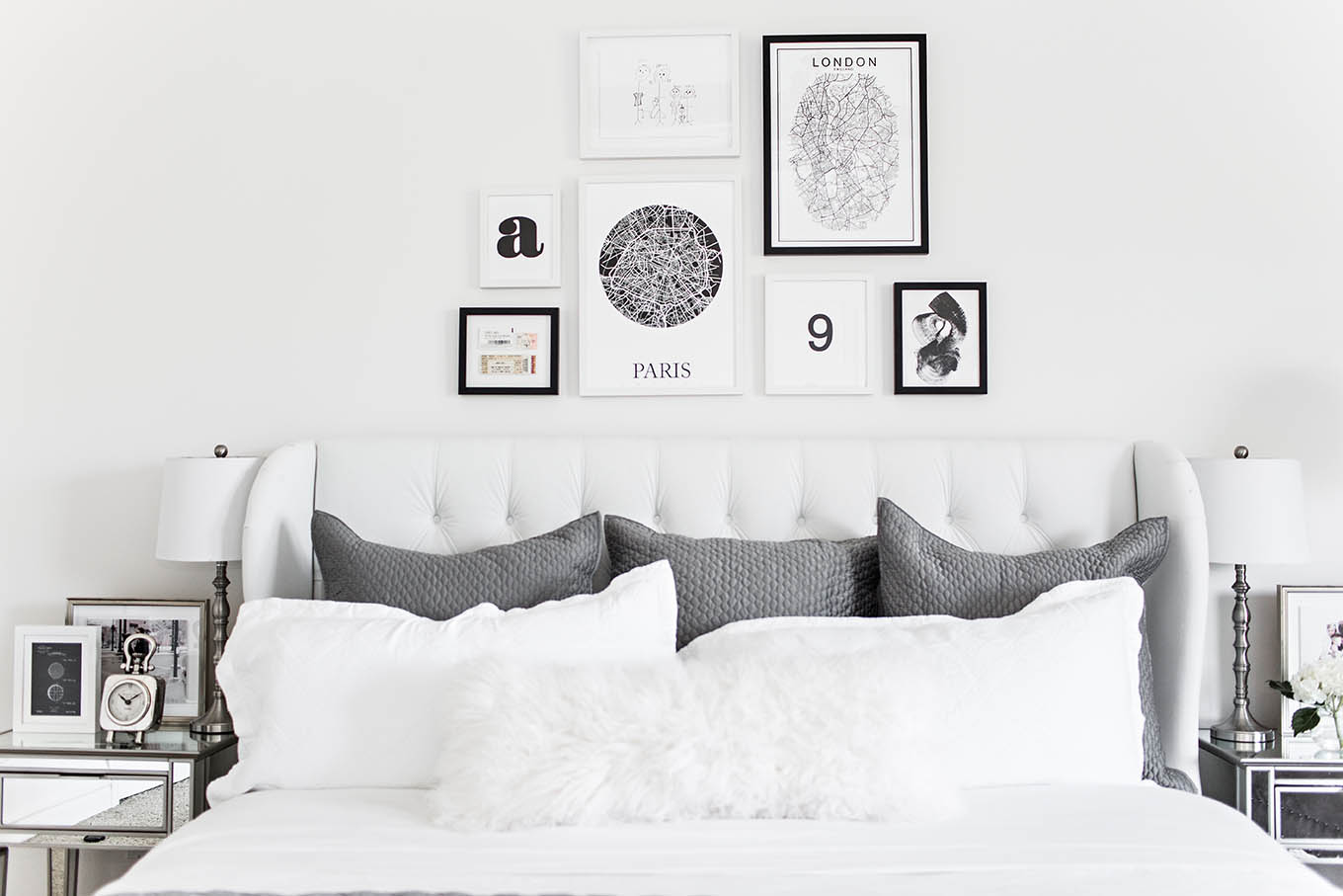 Black And White Bedroom Wall Decor Bedroom Gallery Wall Hello Fashion