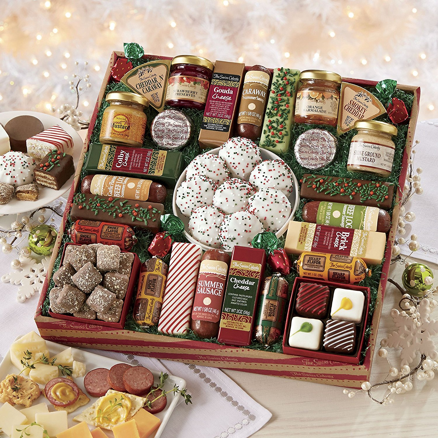 Gourmet Food Gift Baskets Best Cheeses Sausages Meat