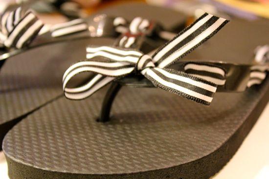 DIY Ribbon Flip Flops | HelloGlow.co