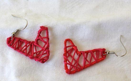DIY Paper Clip Heart Earrings   HelloGlow.co