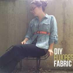 DIY Fluorescent Fabric Belt