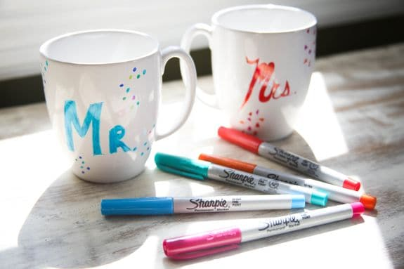 DIY Sharpie Mugs - Hello Glow