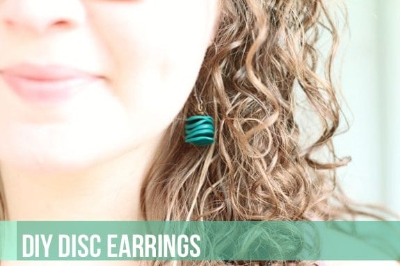 DIY clay disc earrings