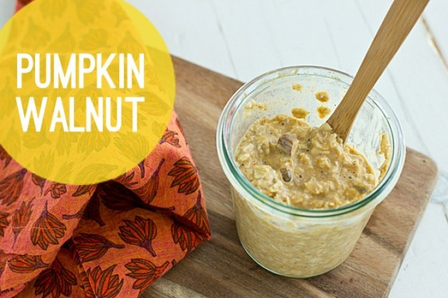 Pumpkin Walnut Overnight Oats
