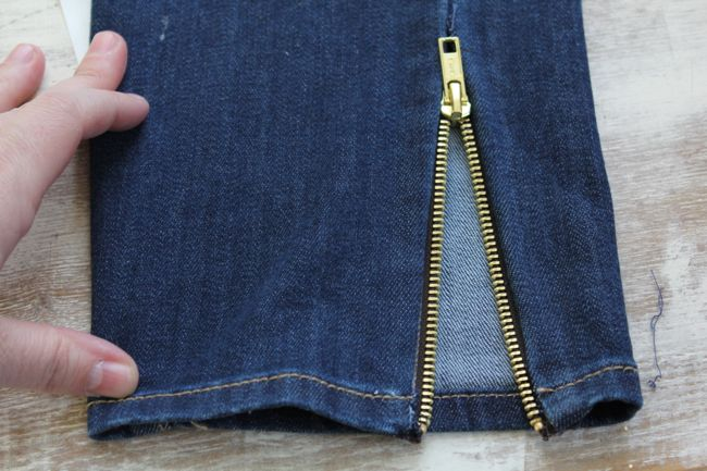 Ankle ZIpper Jeans