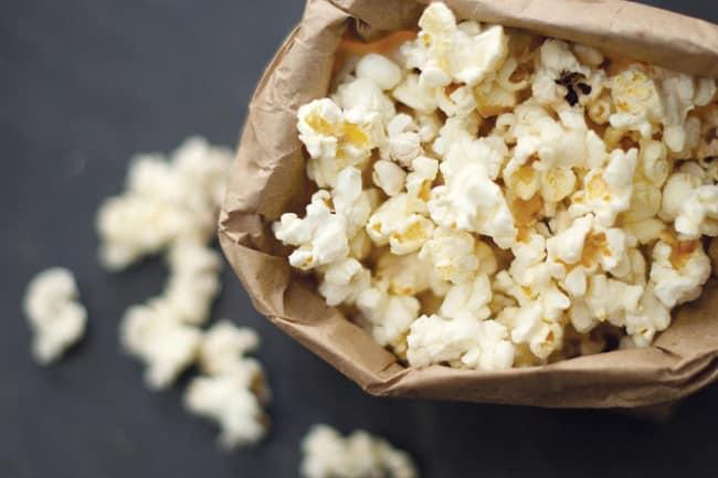 Homemade microwave popcorn by Little Monster : I feel like I should ...