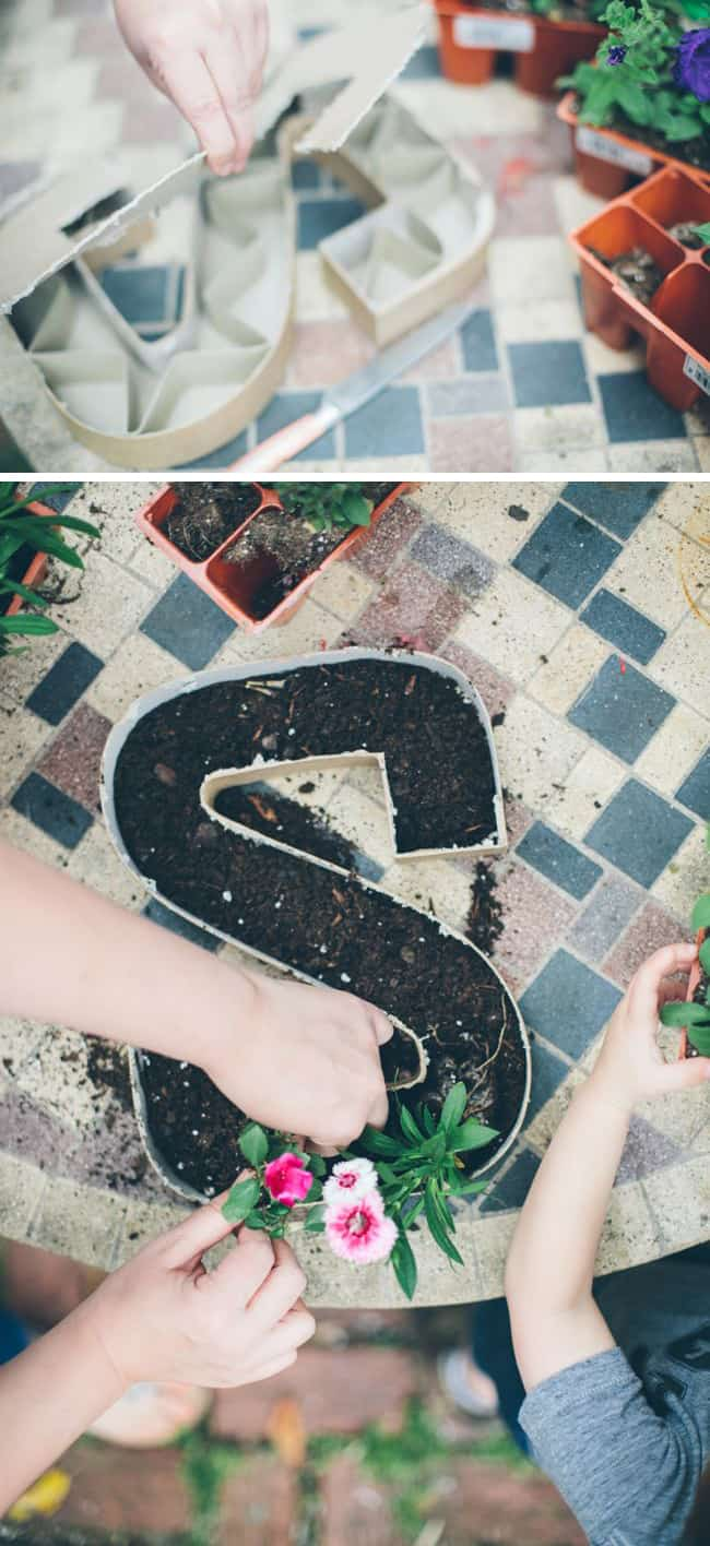 How to make letter planters