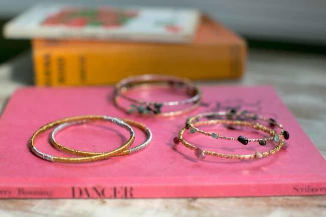 DIY Wire Wrapped Bracelets | Hello Glow
