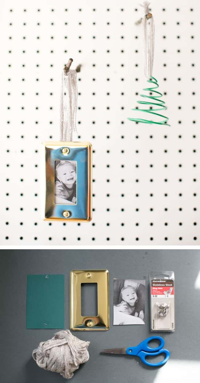 Wall Plate Photo DIY Ornament | HelloGlow.co