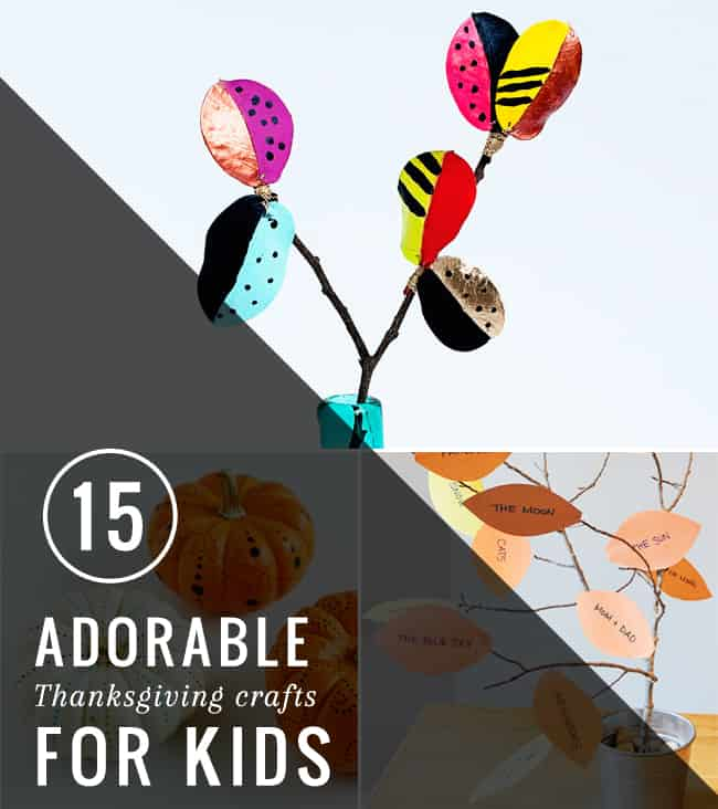 15 Adorable Thanksgiving Crafts for Kids | Hello Glow