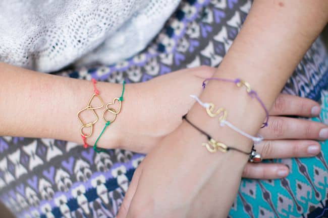 Wire shapes bracelets | Hello Glow