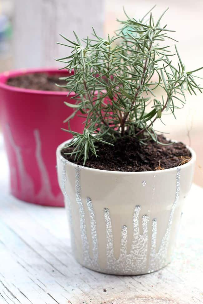 Dipped DIY Planters with Nail Polish | Hello Glow