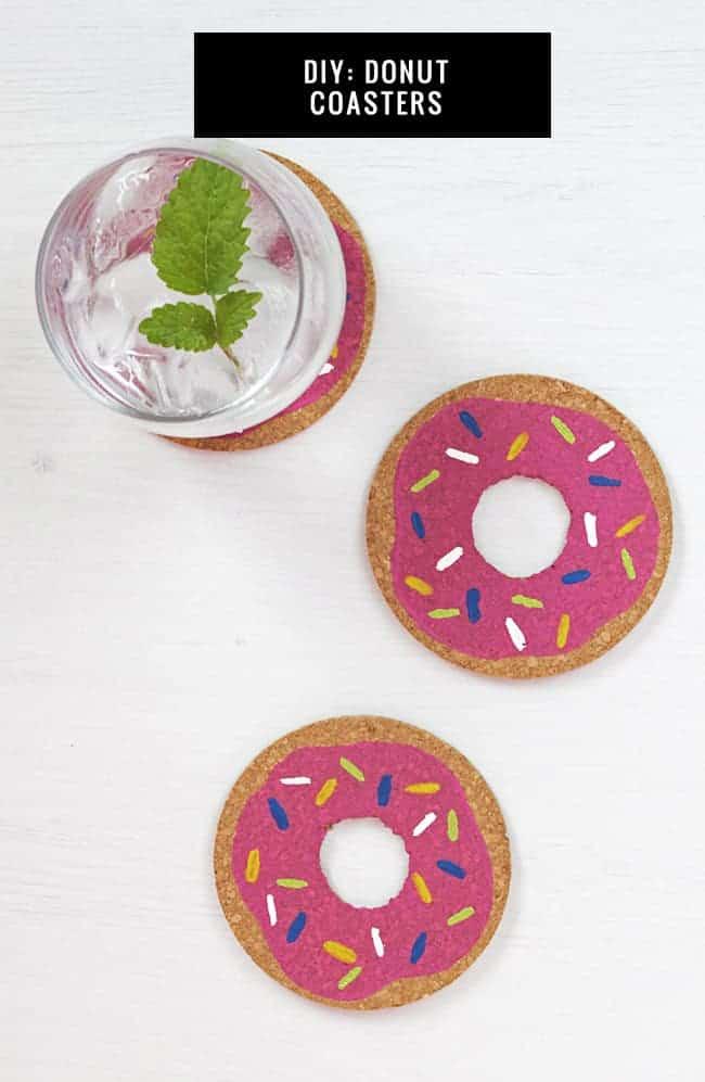 DIY Donut Coasters | HelloGlow.co