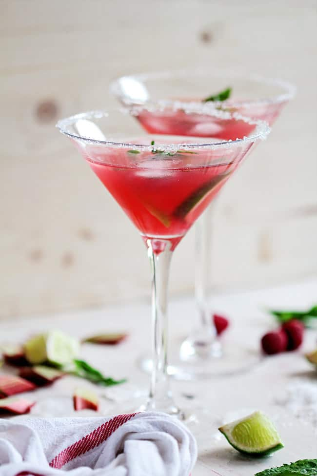 Raspberry Rhubarb Margarita Recipe | HelloGlow.co