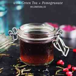 DIY: Anti-Aging Homemade Toner with Green Tea + Pomegranate