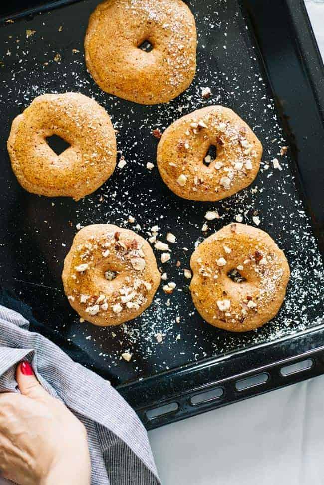 Baked Pumpkin Donuts (Vegan + Gluten-Free)