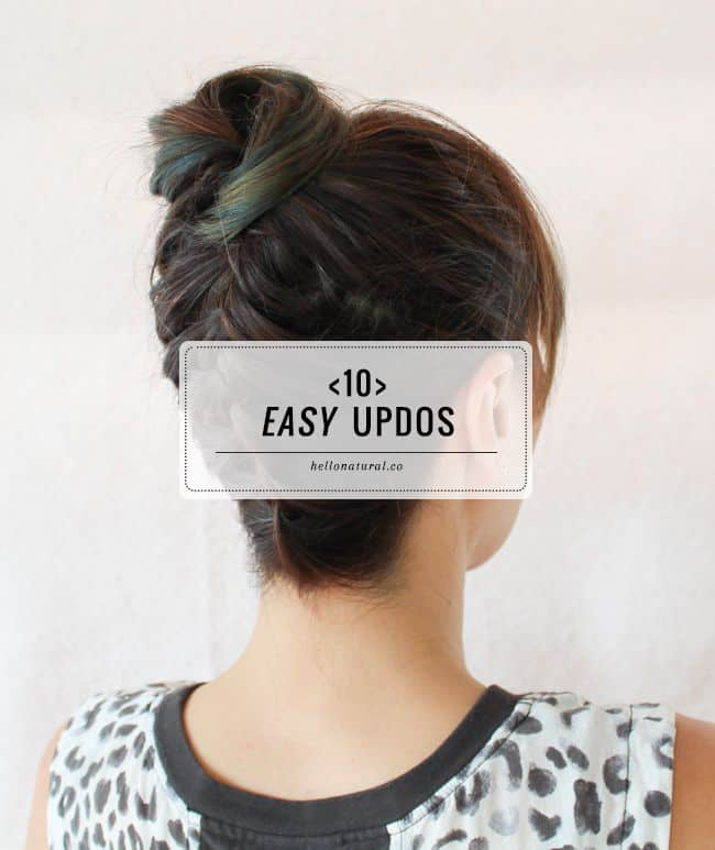 10 Easy Updos You Can Actually Do With 2 Hands Hello Glow