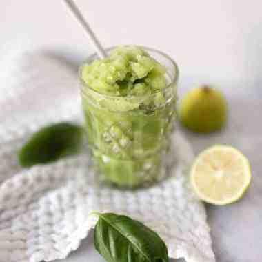 Cucumber-Basil Spa Slush