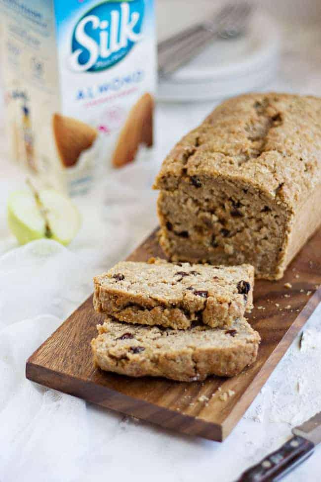 Vegan Spiced Apple Bread | Hello Glow
