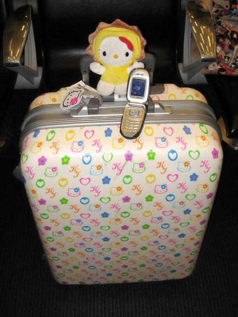 Hello Kitty Monogrammed Hard Suitcase