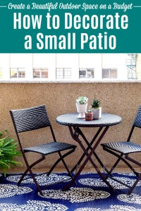 How to Decorate a Small Patio on a Budget | Hello Little Home