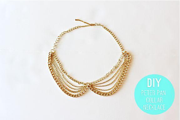 diy chain collar necklace
