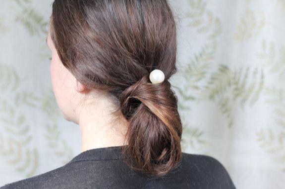 DIY Chanel Chignon & Pearl Bobby Pins