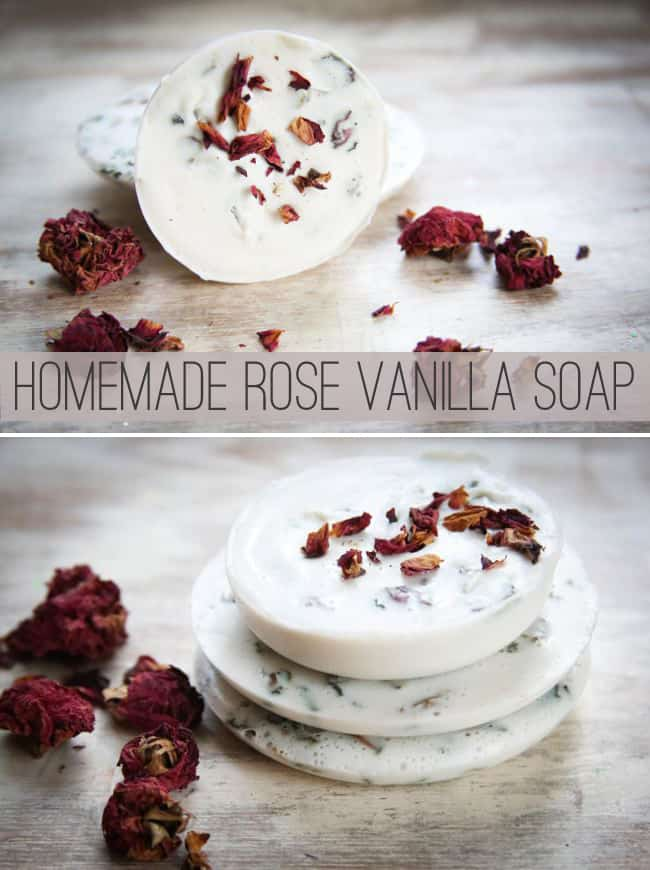 Homemade Soap with Roses and Vanilla | HelloNatural.co