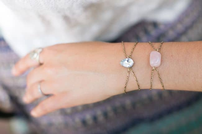 DIY Rhinestone Bracelets | Henry Happened