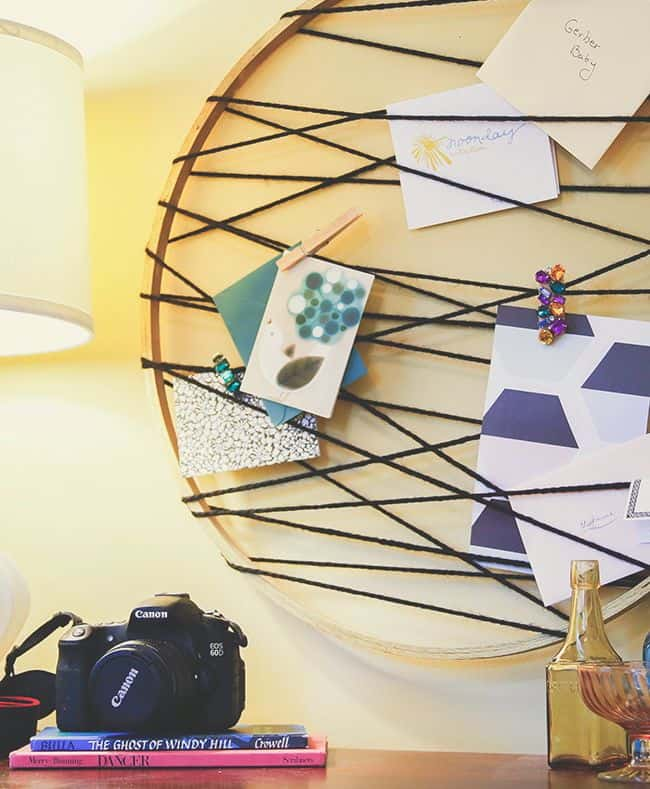Embroidery Hoop Card Catcher | Henry Happened