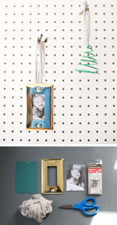Wall Plate Photo DIY Ornament | HelloNatural.co