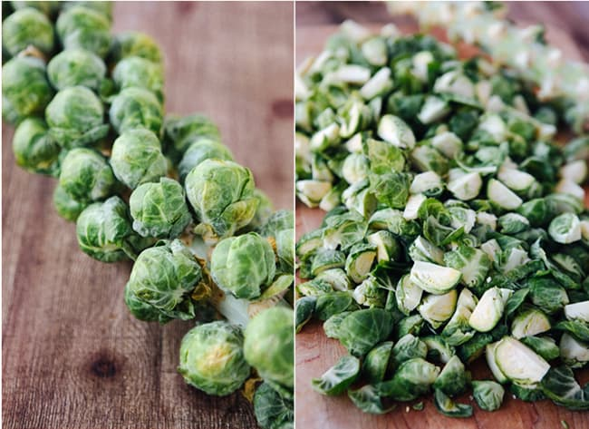 Maple Bacon Roasted Brussels Sprouts | HelloNatural.co