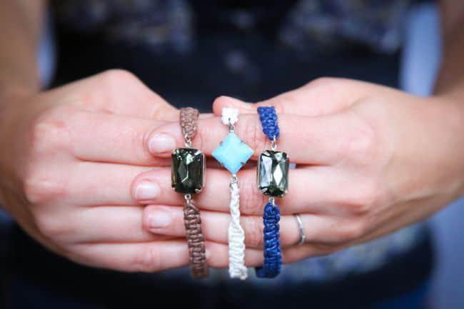 DIY Jewel Macrame Bracelets | Henry Happened