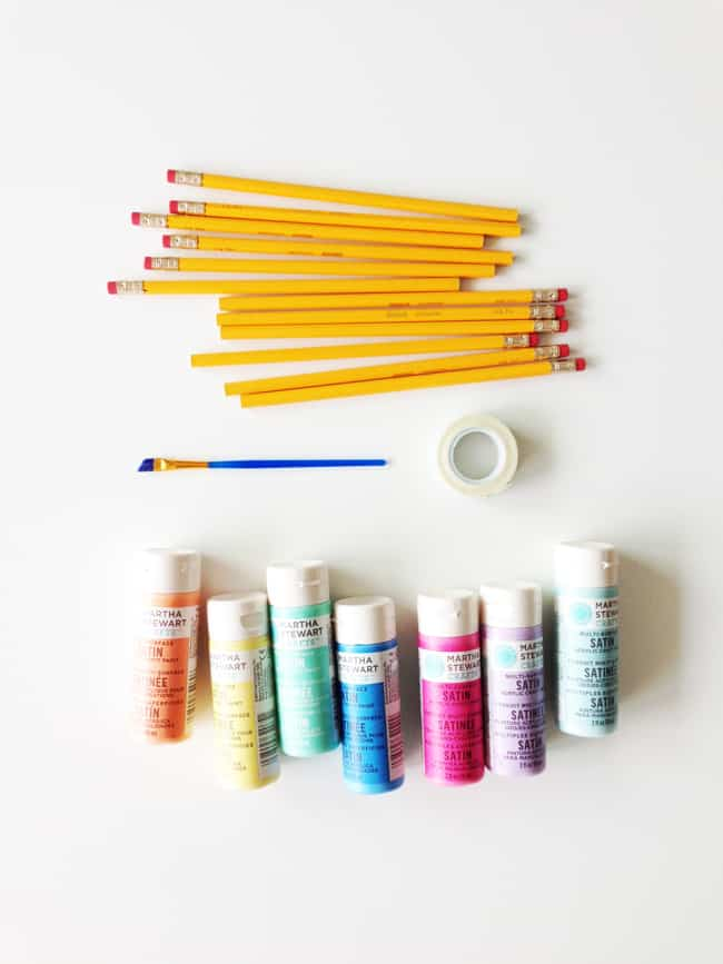 Diy painted back to school pencils 20