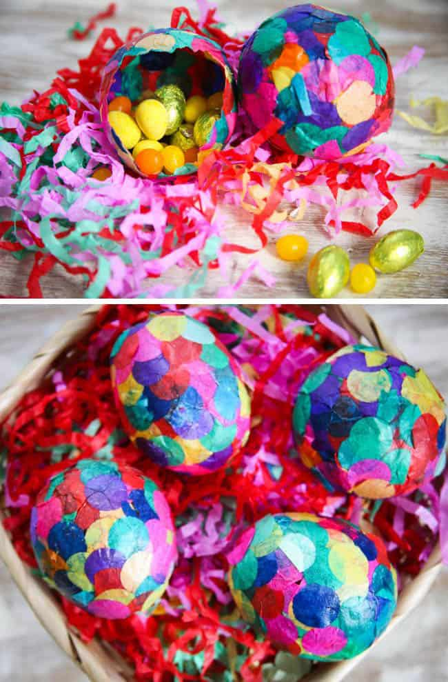 How to Paper Mache Eggs with Confetti | Hello Natural
