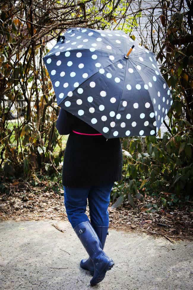 DIY Polka Dot Umbrella - Hello Natural