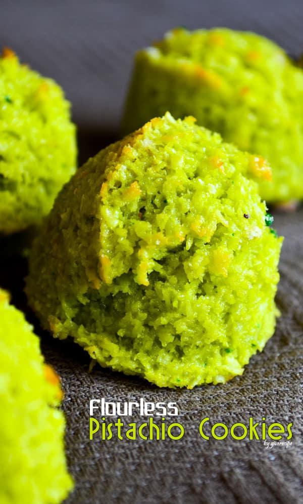 Flourless Pistachio Cookies