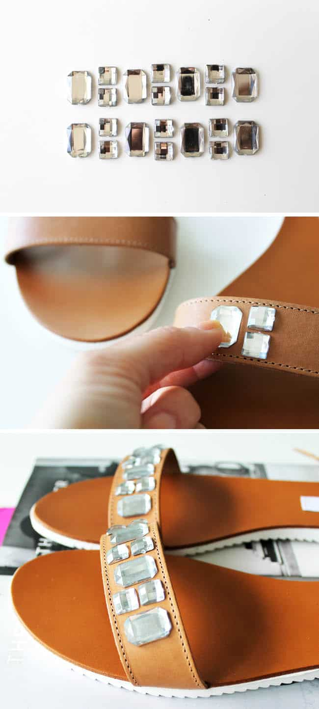 How to embellish sandals  with crystals - Hello Natural