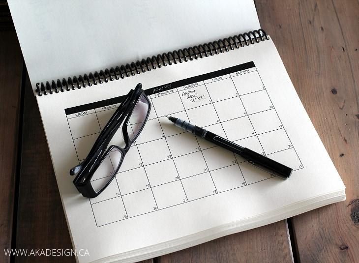 Diy Editorial Calendar : Diy calendars planners for hellonatural