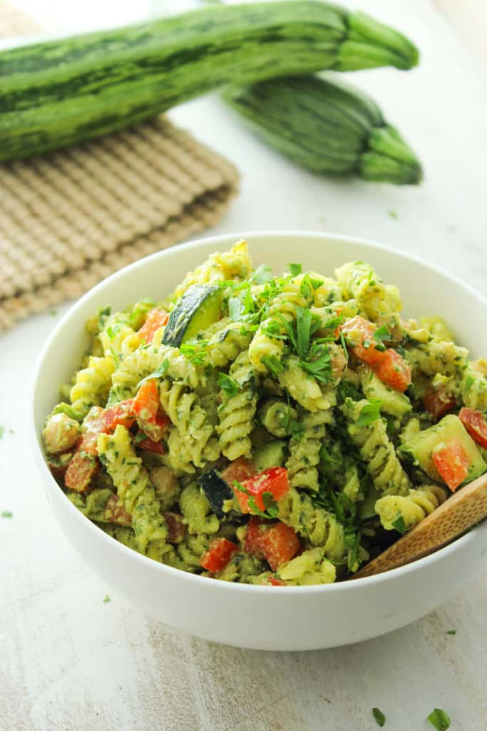 20 minute pesto pasta salad by The Fitchen